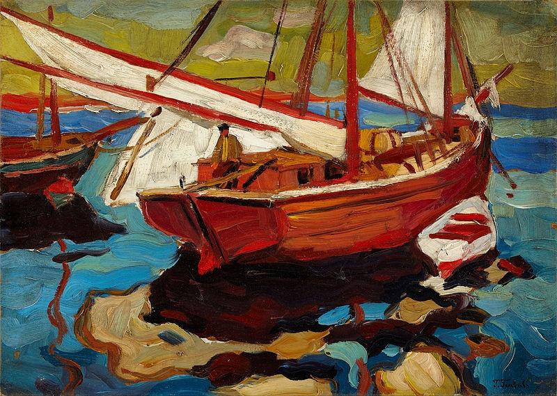 Герасим Семенович Головков. Рыбацкие лодки в гавани