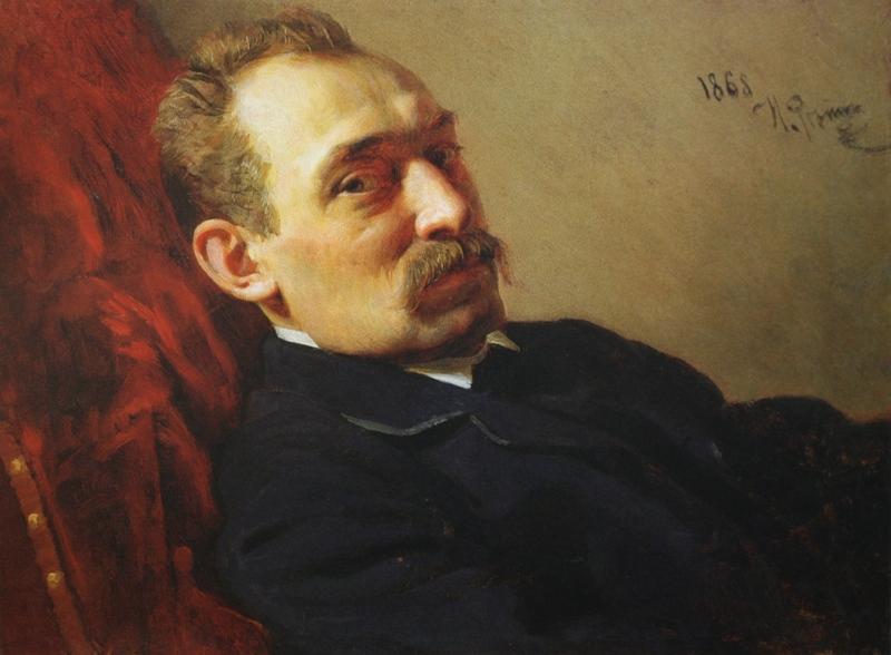 Ilya Efimovich Repin. Portrait of F. D. Khloboshin. State Russian Museum.