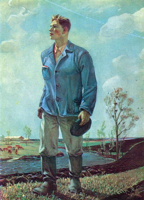 Александр Александрович Дейнека. Тракторист