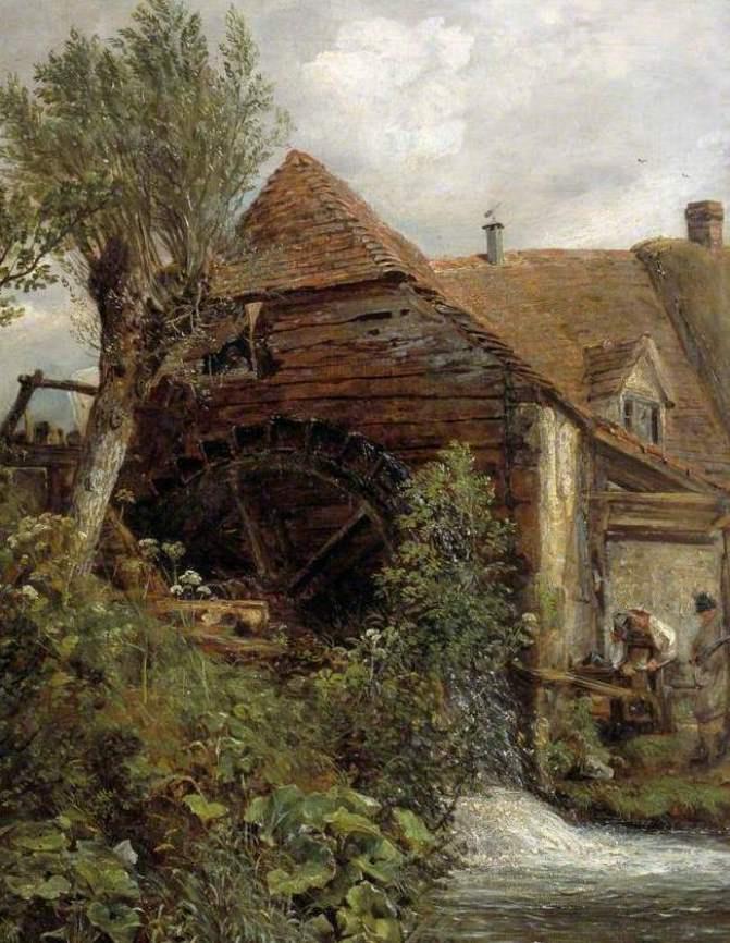 John Constable. Mill, Gillingham, Dorset. Fragment