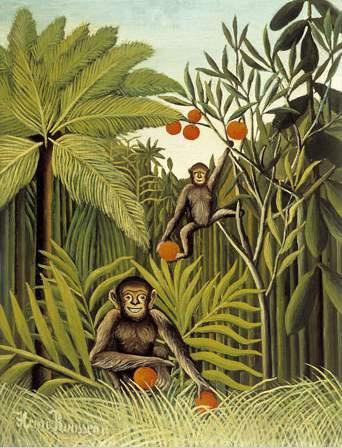 Анри Руссо. Обезьяны в джунглях