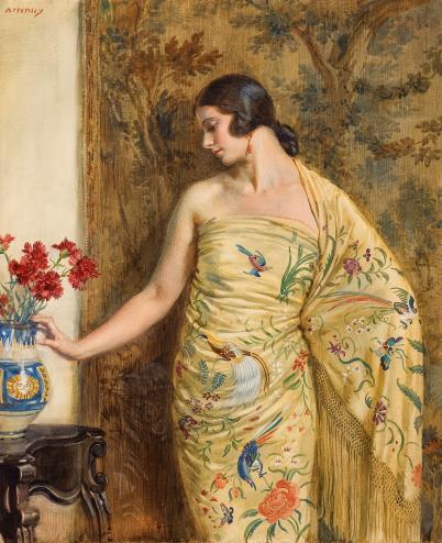 Джордж Оуэн Винн Апперлей. Дама в восточном платье