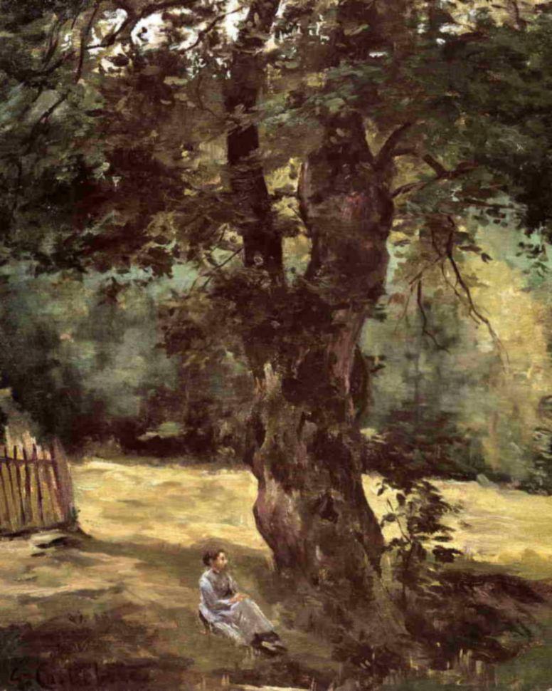 Гюстав Кайботт. Женщина, сидящая под деревом