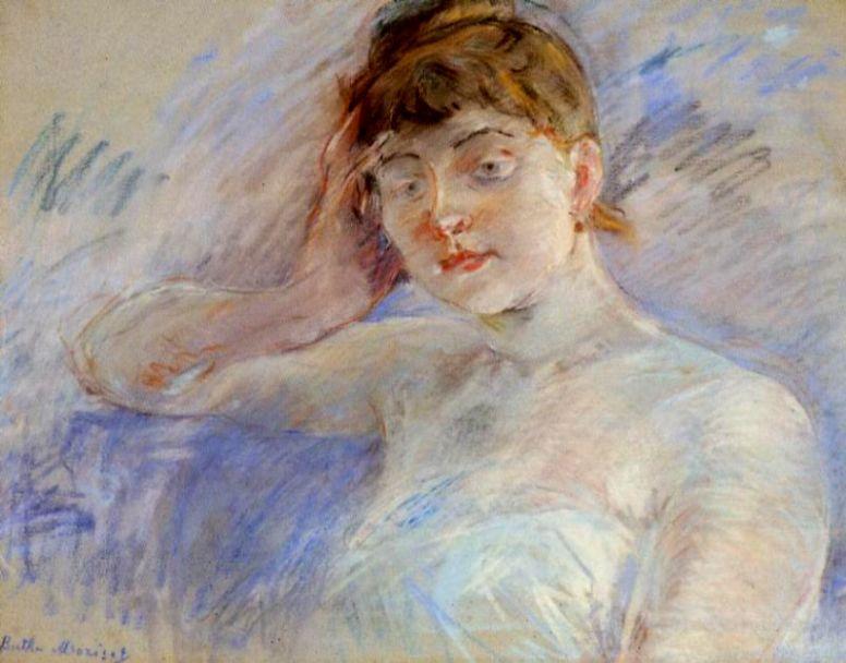 Берта Моризо. Молодая женщина в белом