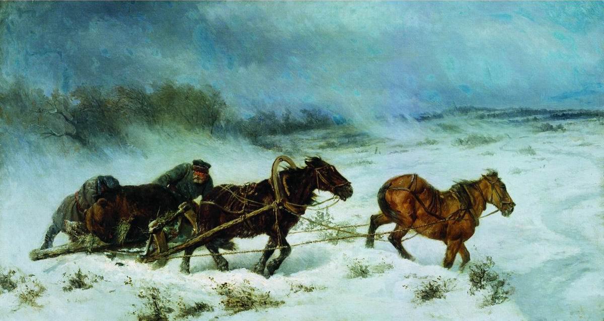 Николай Егорович Сверчков. Охота на медведя. 1885