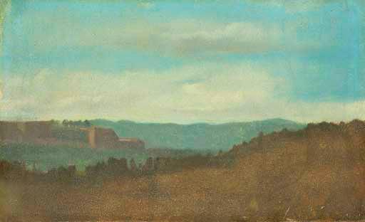Edgar Degas. Evening landscape