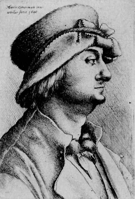 Венцель Холлар. Мужская голова в профиль