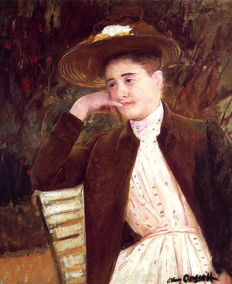 Мэри Кассат. Селеста в коричневой шляпе