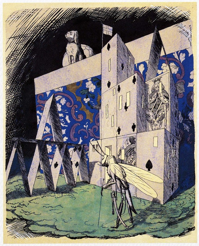 """Георгий Иванович Нарбут. Illustration for a collection of fairy tales by H. H. Andersen. """"House of cards"""""""