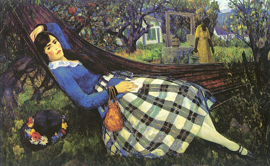 Леон Кролл. Отдых в саду