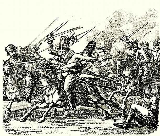 Даниэль  Николай Ходовецкий. Выступление прусской армии