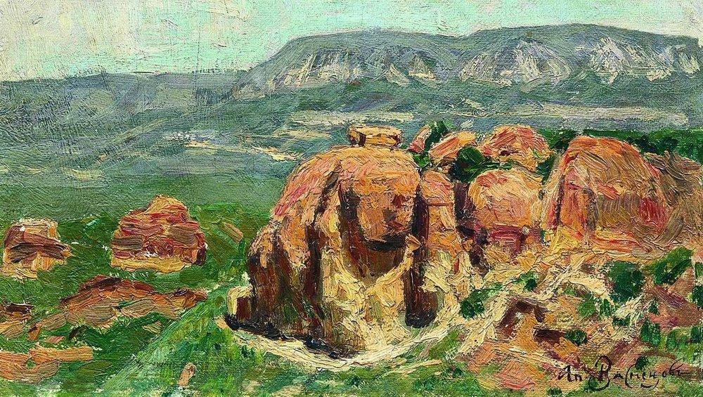 Аполлинарий Михайлович Васнецов. Красные скалы в Кисловодске