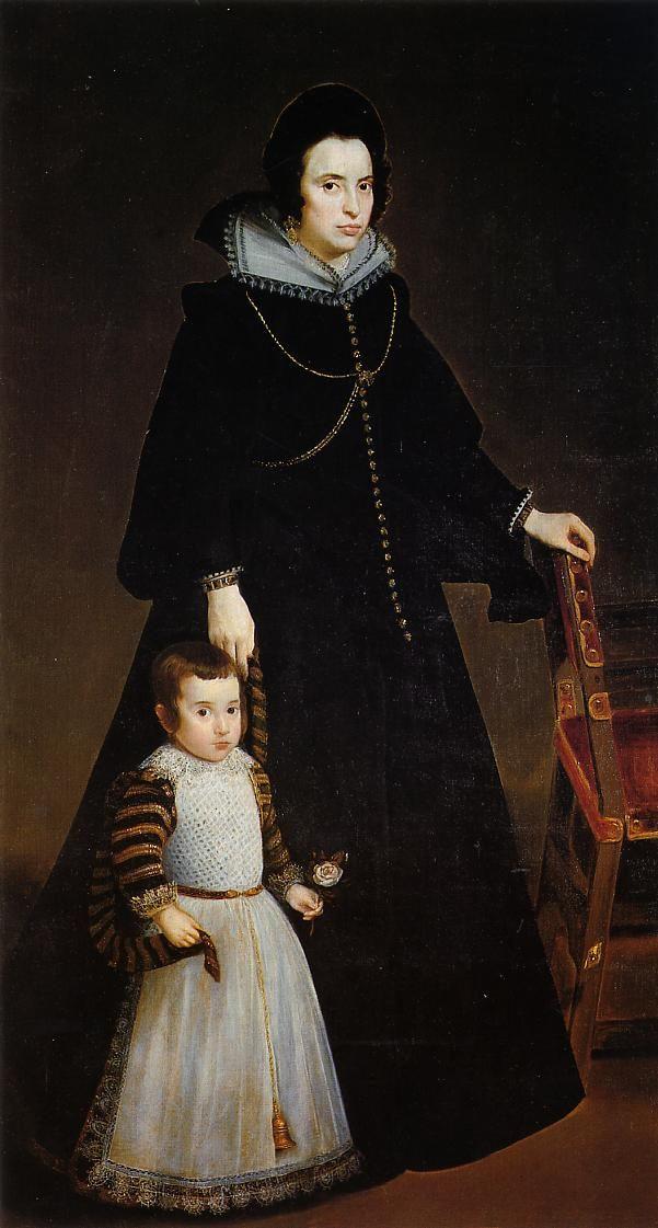 Diego Velazquez. Portrait of Antonia de Penarrieta-and-Galdós and her son Luis