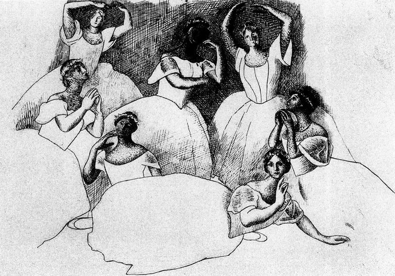 Пабло Пикассо. Танцовщицы