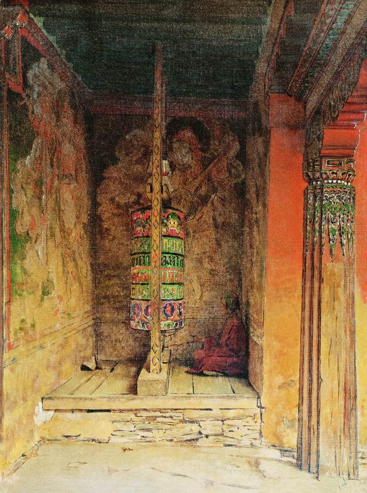 Vasily Vereshchagin. Prayer machine Buddhists