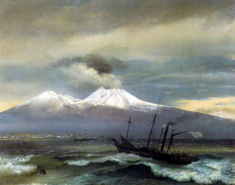 Орест Адамович Кипренский. Вид Везувия в зимнее время