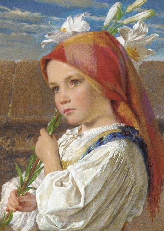 Frederick William Burton. Sunday morning