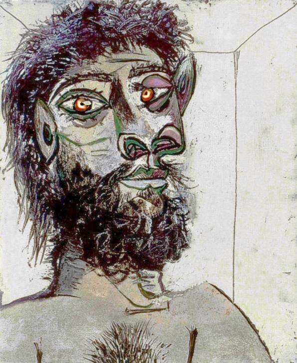 Пабло Пикассо. Голова бородатого мужчины