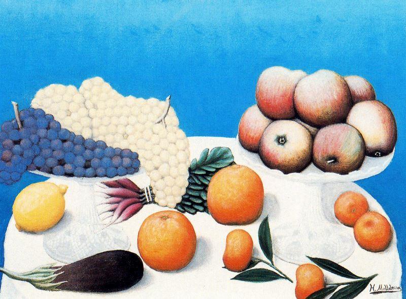 Хигинио Маллебрера. Виноград и фрукты