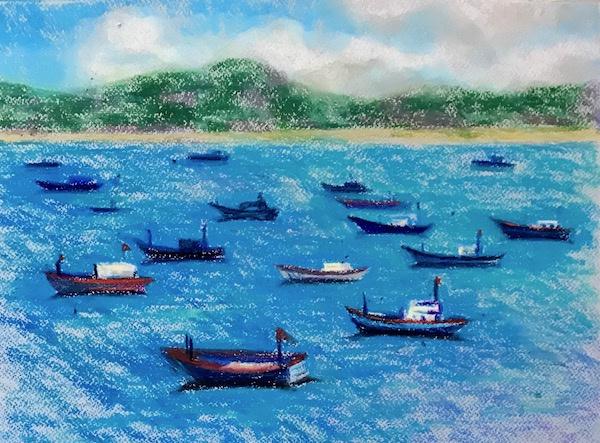 Larissa Lukaneva. Phu yen. Boats.