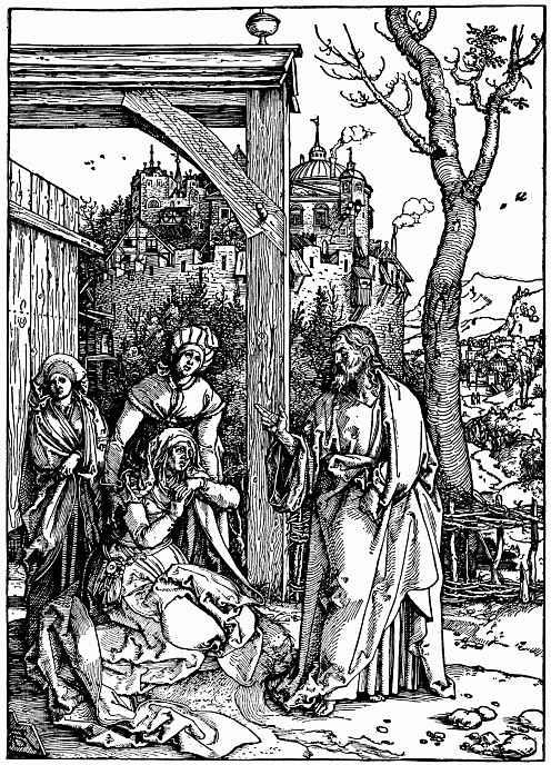Альбрехт Дюрер. Прощание Христа с матерью