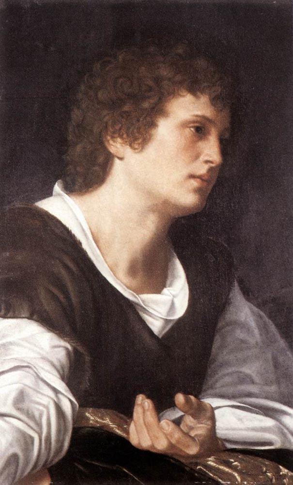 Giovanni Girolamo Savoldo. Head of a young