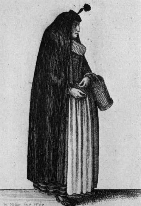 Венцель Холлар. Замужняя кельнская дама