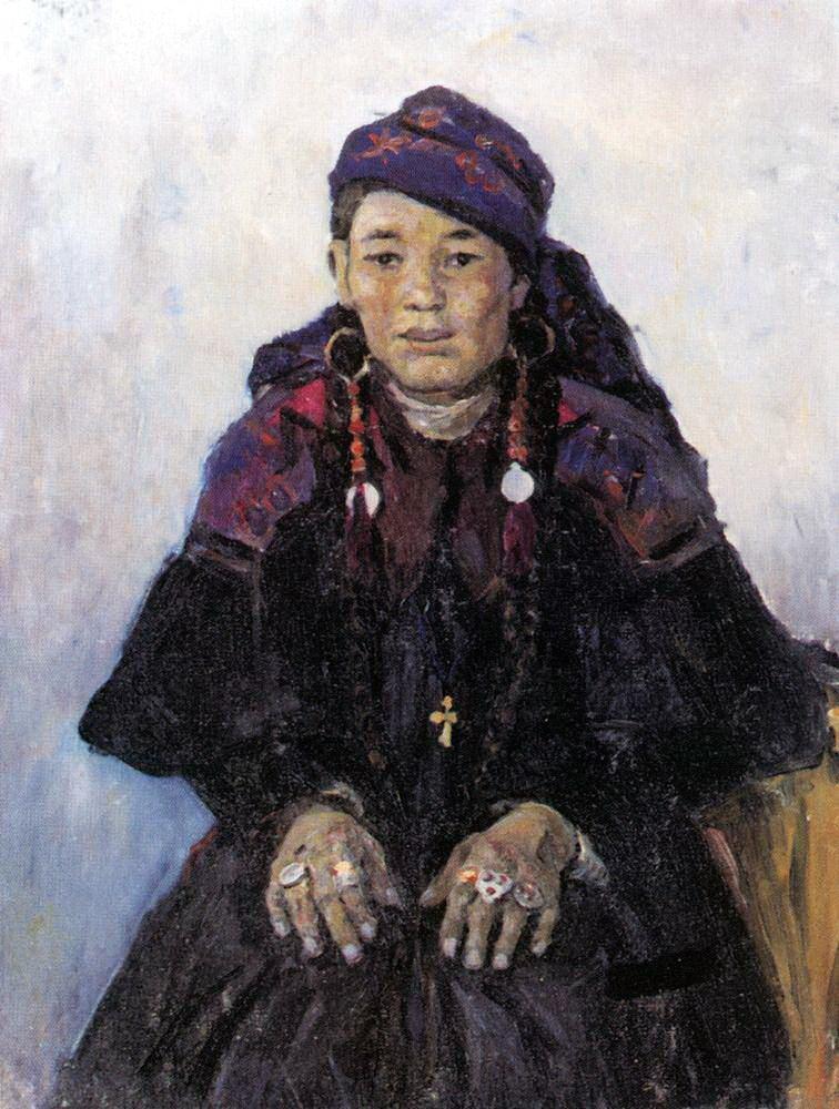 Василий Иванович Суриков. Портрет хакаски