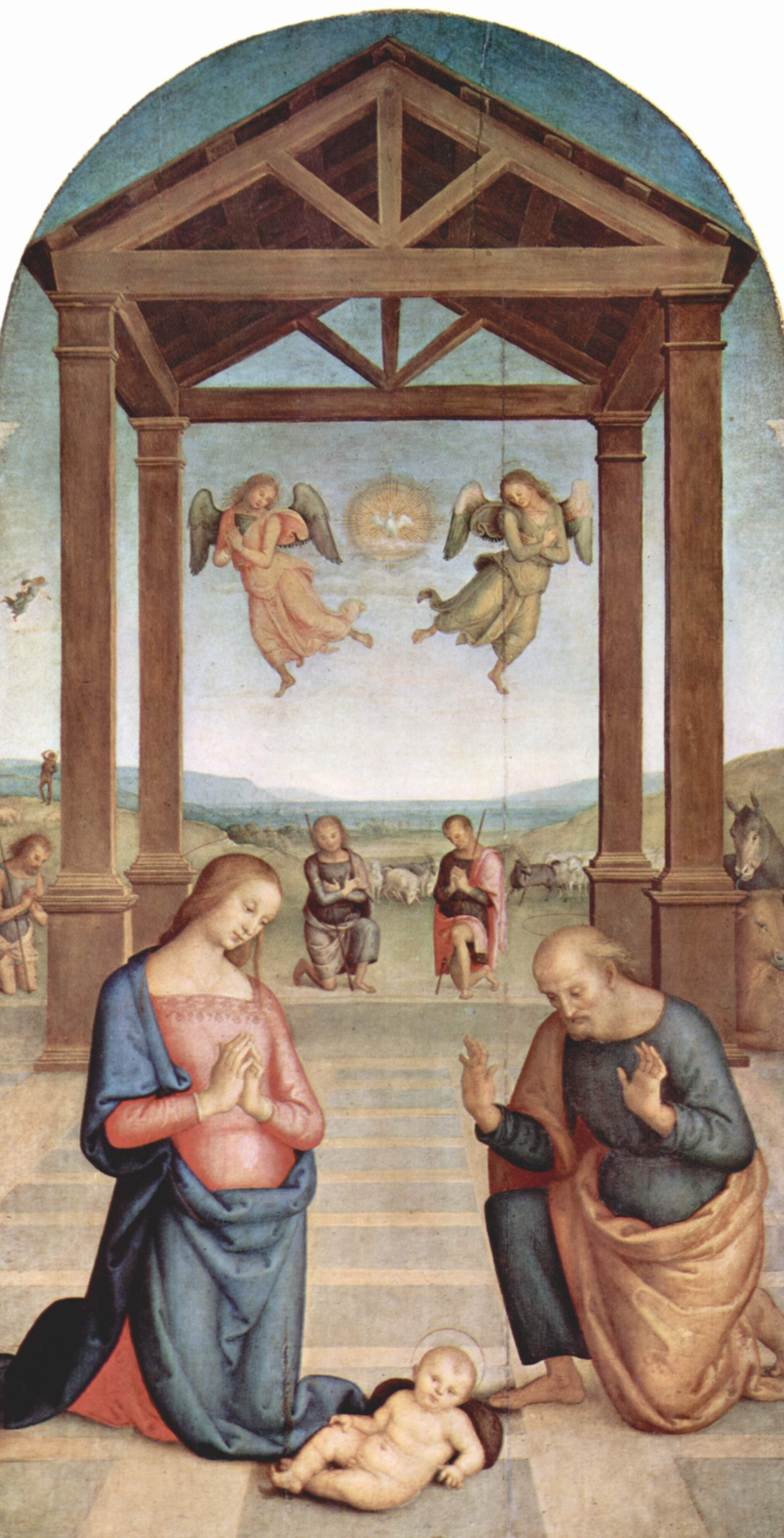 Pietro Perugino. Altar of St. Augustine. The adoration of the shepherds