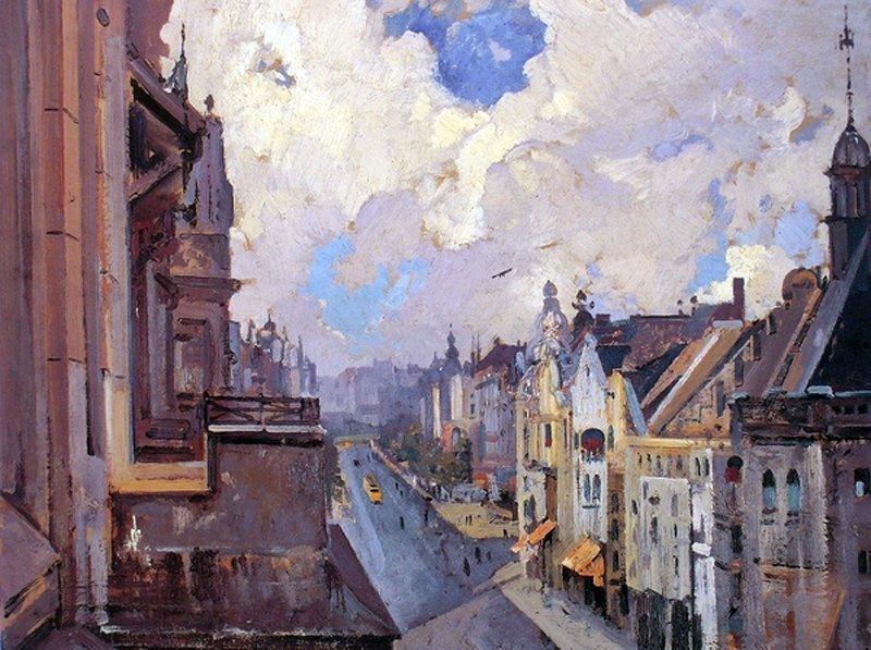 Ivan Grigorievich Myasoedov. Street in berlin