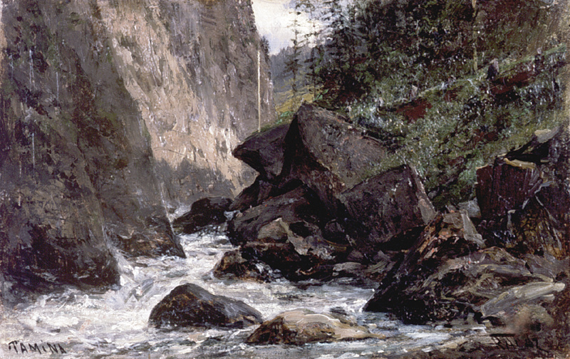 Алексей Петрович Боголюбов. Река Тамина