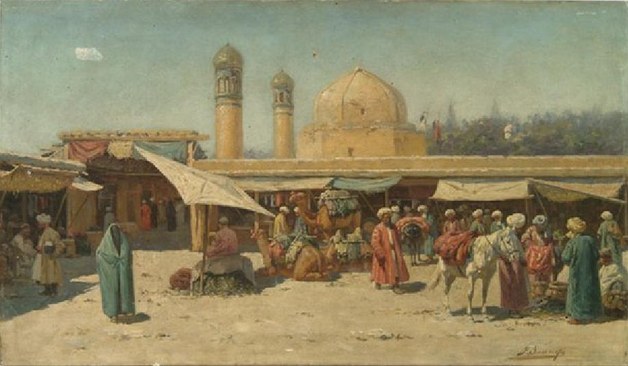Richard-Karl Karlovich Sommer. Bazaar in Kokand