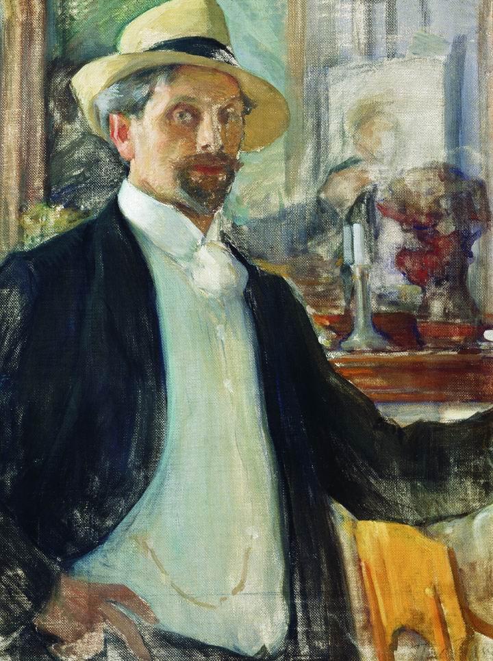 Leonid Pasternak. A self-portrait. 1908