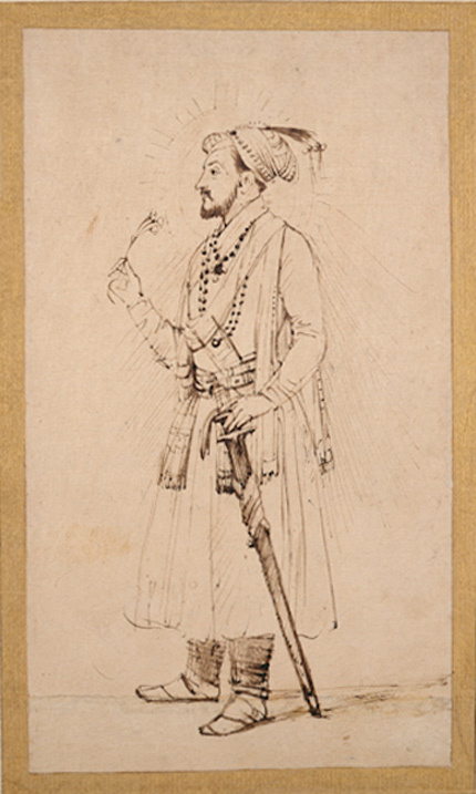 Rembrandt Harmenszoon van Rijn. Shah Jahan with flower and sword