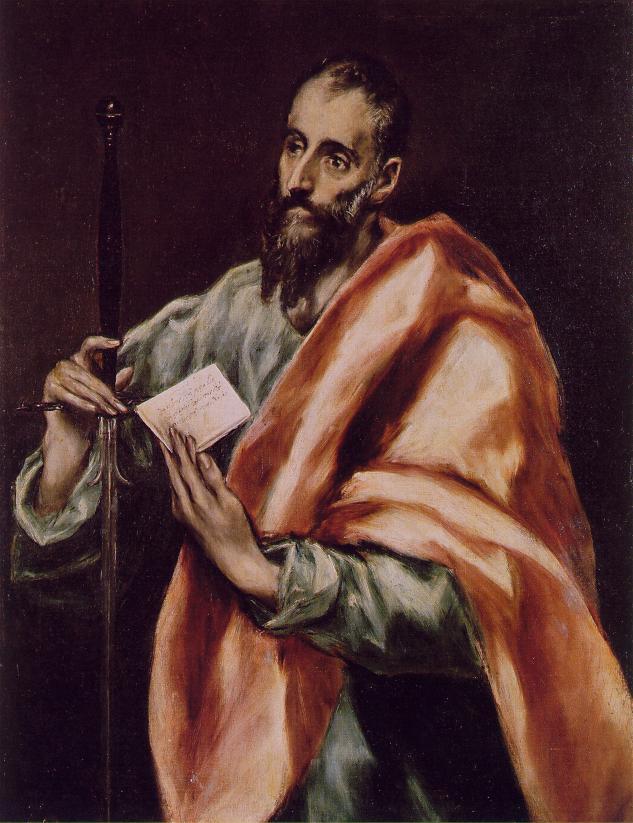 Domenico Theotokopoulos (El Greco). The Apostle Saint Paul