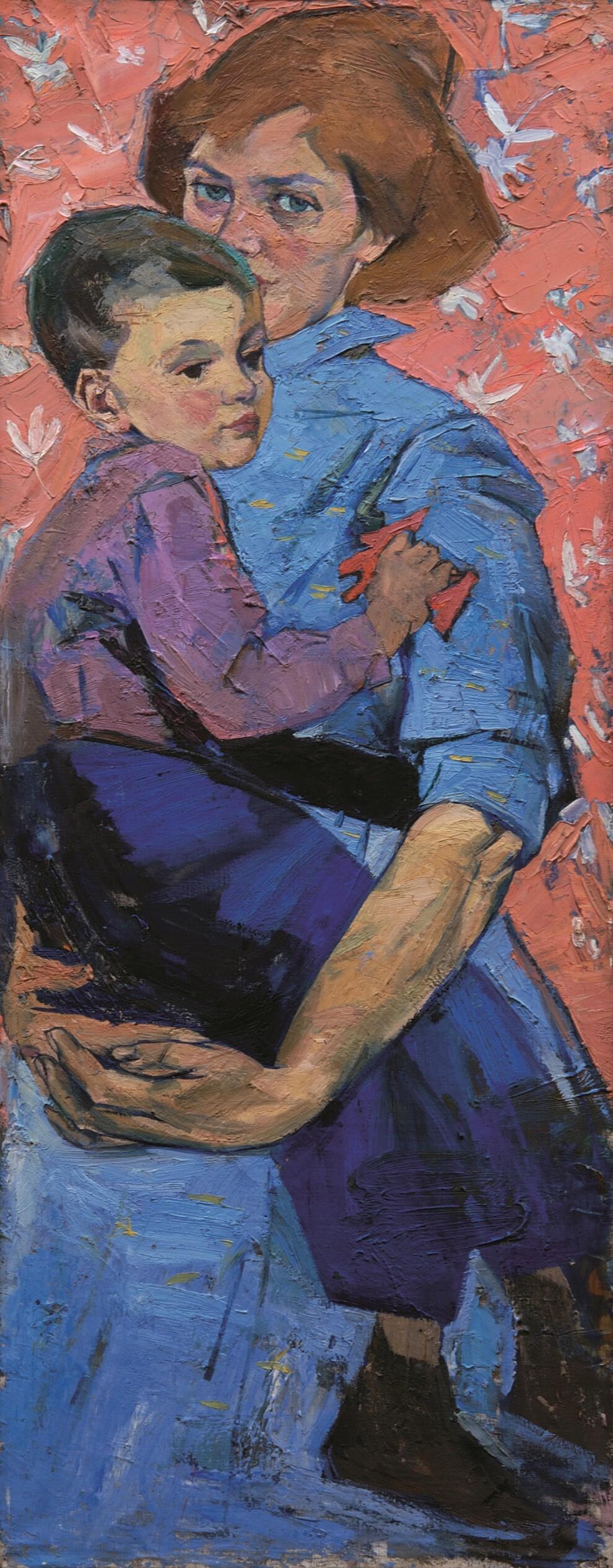 Алла Александровна Горская. Self portrait with son