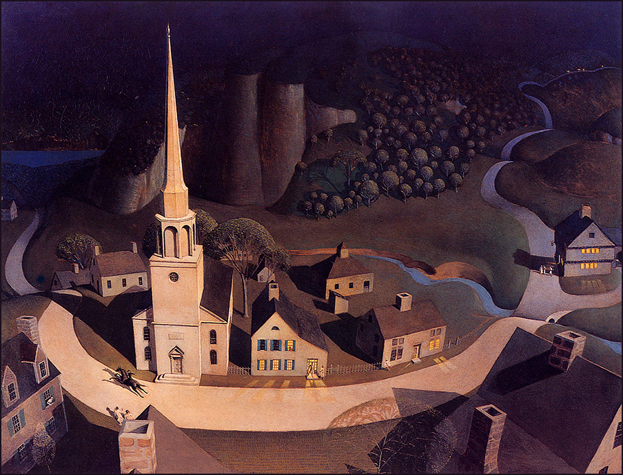 Grant Wood. The midnight ride Paul Revere