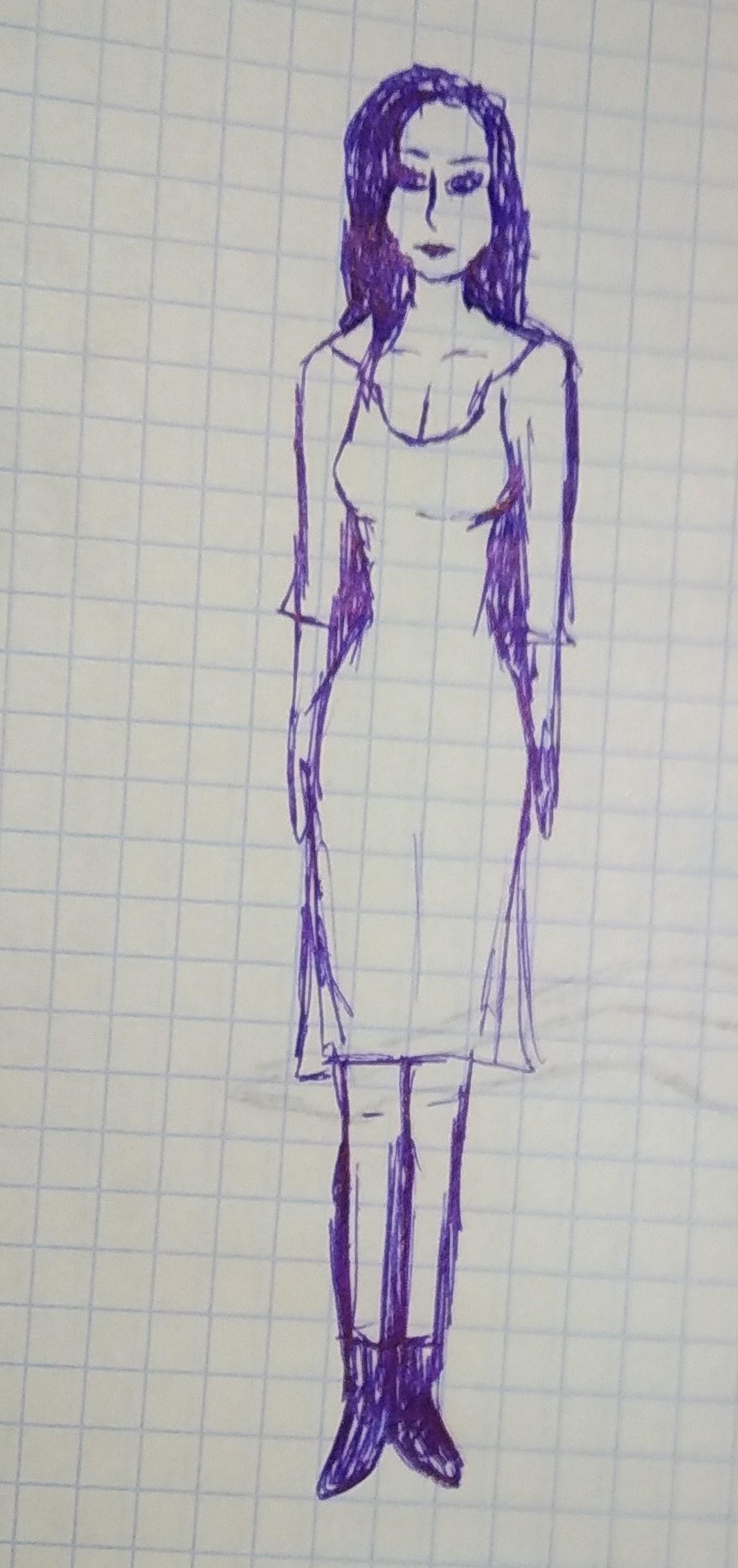 Zina Vladimirovna Parisva. Girl with long hair