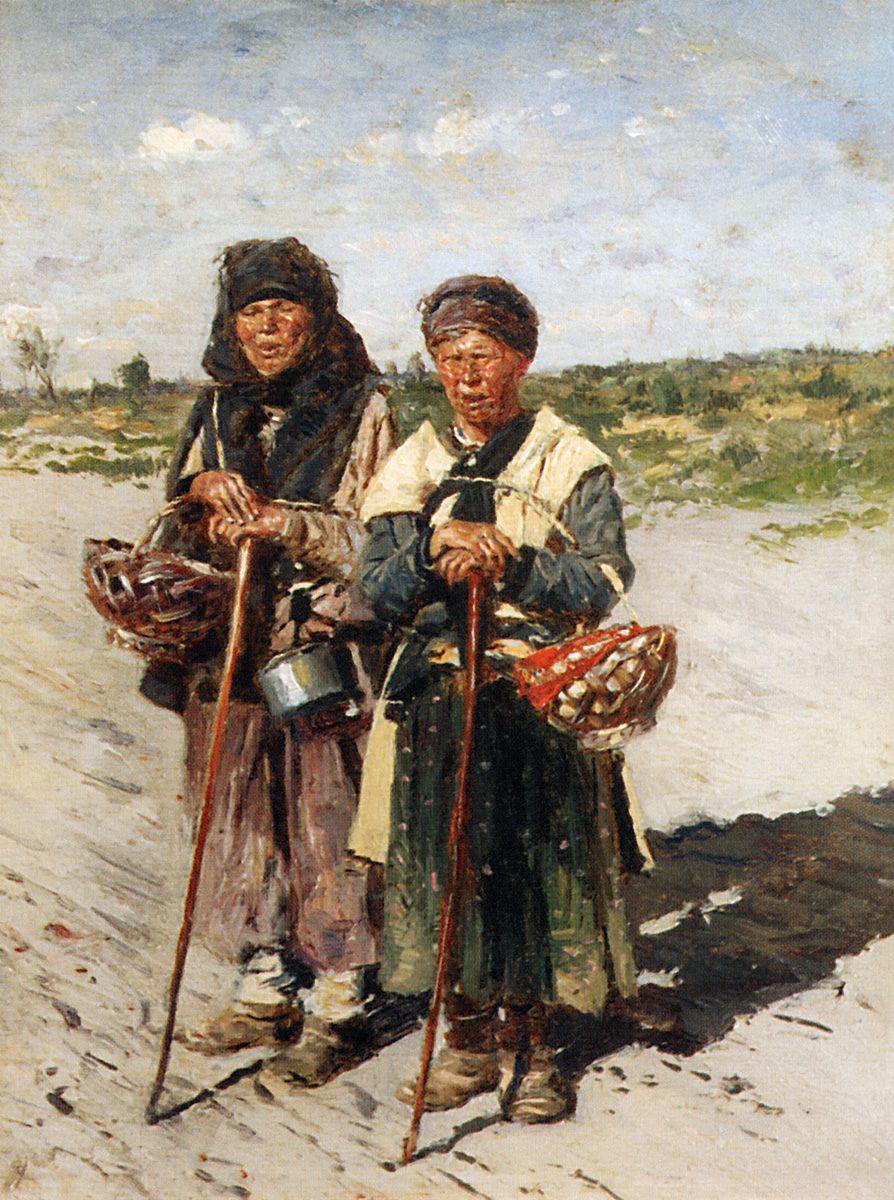 Vladimir Egorovich Makovsky. Two pilgrims
