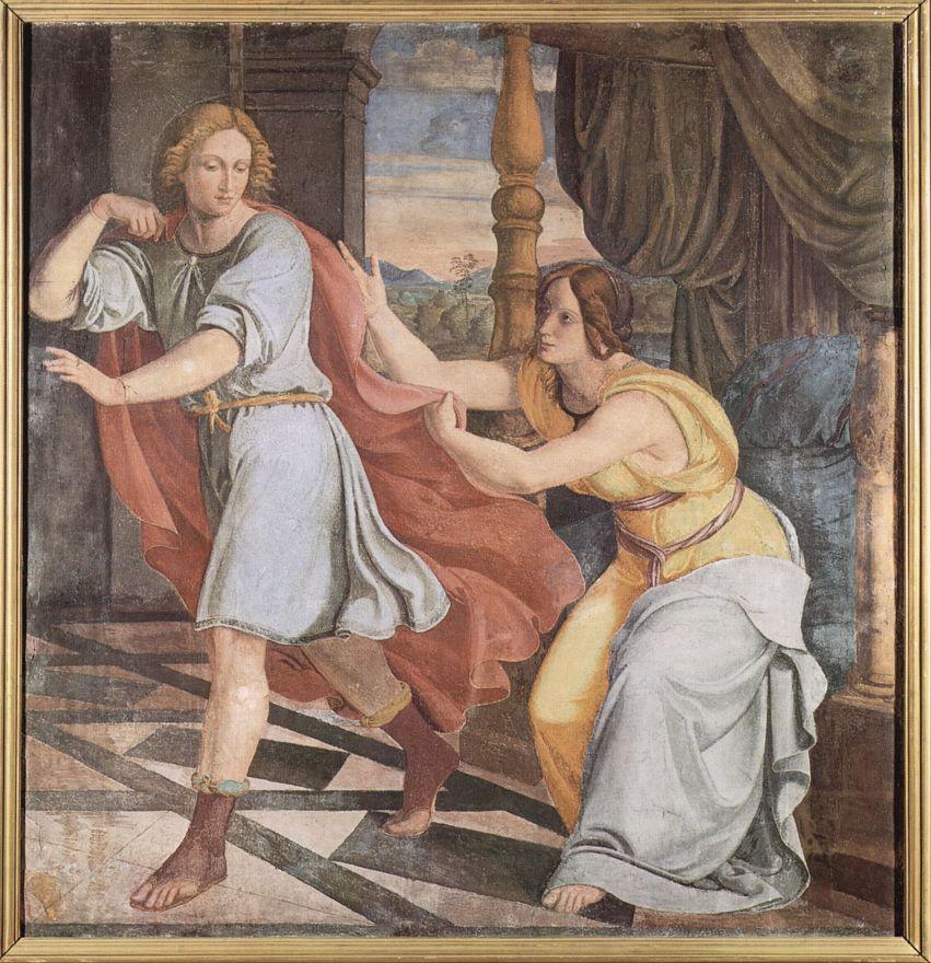 Филипп Вейт. Иосиф и жена Потифара. Фрески Каза Бартольди в Риме