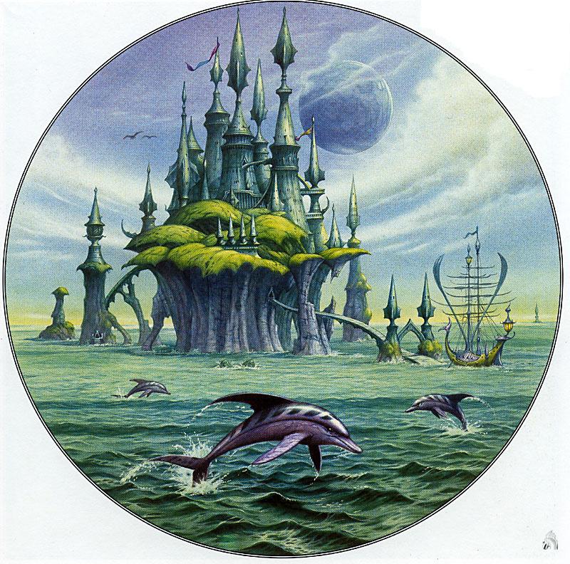 Rodney Matthews. Ocean castle