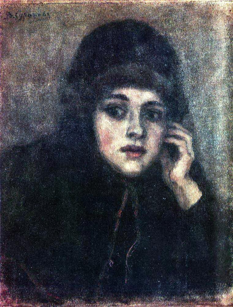 Василий Иванович Суриков. Голова монахини