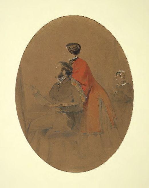 Ivan Aivazovsky. Familienporträt (Selbstporträt mit Frau Julia)