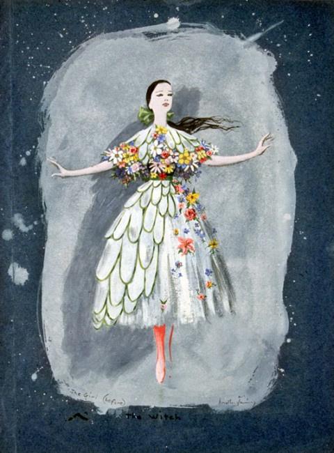 "Доротея Таннинг. Девушка. Дизайн костюма для балета Джона Кранко ""Ведьма"""