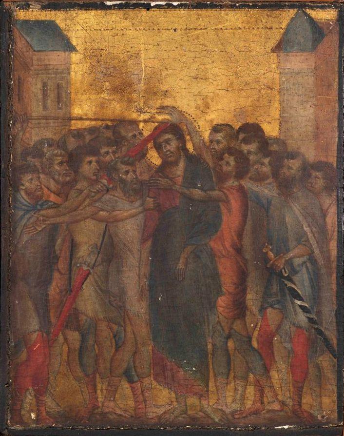 Чимабуэ (Ченни ди Пепо). Поругание Христа