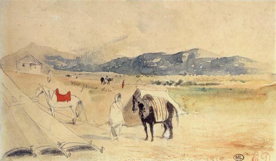 Eugene Delacroix. Between Tangier and Meknes