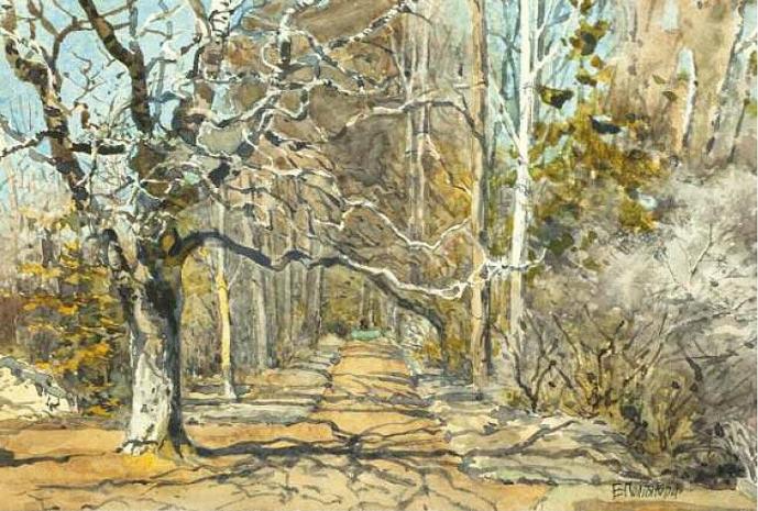 Elena Dmitrievna Polenova. Alley in the early spring. Etude