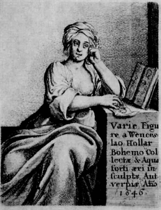 Венцель Холлар. Фронтиспис с аллегорией искусства рисования