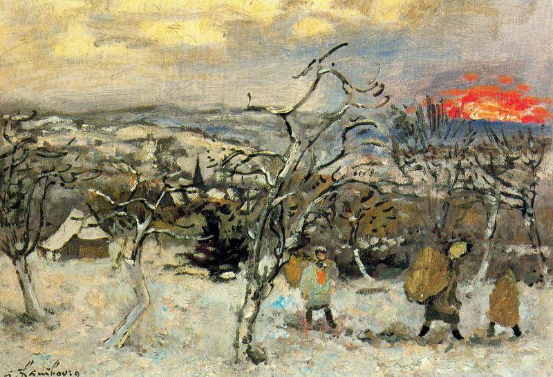Андре Хамбоург. Зима