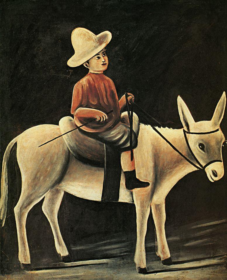 Niko Pirosmani (Pirosmanashvili). The boy on the donkey